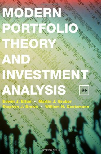 modern portfolio theory and investment analysis pdf solutions